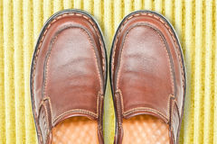 Brown leather men shoes Royalty Free Stock Photo