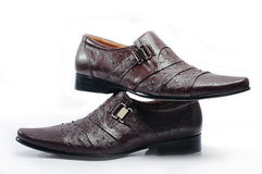 Brown Leather Mens Dress Shoes Royalty Free Stock Image
