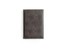 Brown leather notebook isolated Royalty Free Stock Photography