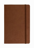 Brown leather notebook isolated Stock Images