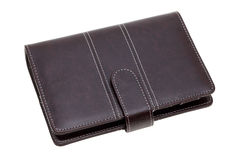 Brown leather notebook Royalty Free Stock Image
