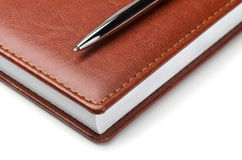 Notebook with pen Royalty Free Stock Photos