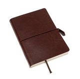 Brown leather notebook Royalty Free Stock Photos