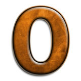 Brown leather O. Individual isolated letter O in brown leather series Royalty Free Stock Images