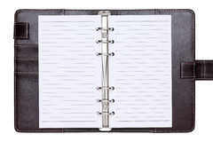 Brown leather office organizer Stock Image