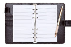 Brown leather office organizer Royalty Free Stock Photography