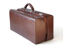 Brown leather old luggage bag Royalty Free Stock Images