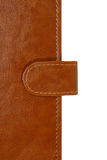 Brown leather organizer closeup Royalty Free Stock Photos