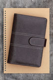 Brown leather organizer Royalty Free Stock Images