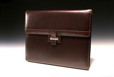 Brown Leather Padfolio Royalty Free Stock Photography