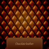 Brown leather pattern Stock Image