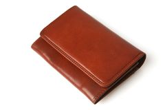 Brown Leather Purse Stock Images