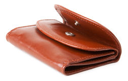 Brown leather purse Stock Image