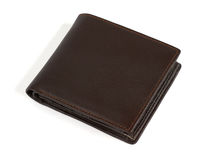 Brown leather purse Royalty Free Stock Photo