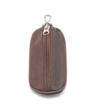 Brown leather purse for keys Stock Images