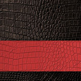 Brown Leather and red space background and texture Royalty Free Stock Photos
