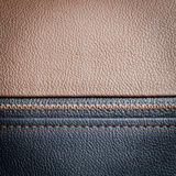 Brown leather sample Stock Image