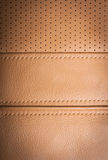 Brown leather sample Royalty Free Stock Images