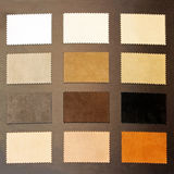 Brown leather samples Royalty Free Stock Photography