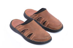 Brown leather sandal Royalty Free Stock Photos