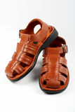 Brown leather sandals Royalty Free Stock Photography
