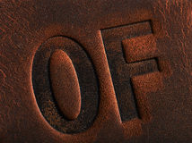 Brown leather with seam Royalty Free Stock Images