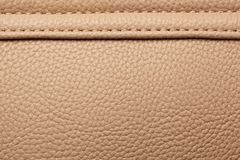Brown leather with seam. Stock Photography