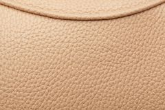 Brown leather with seam. Royalty Free Stock Images