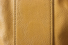Brown leather with seams Stock Photo