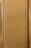 Brown leather with seams Royalty Free Stock Photography
