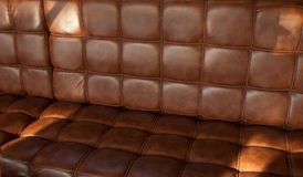 Brown leather seat Stock Photo