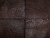 Brown leather set Stock Photos