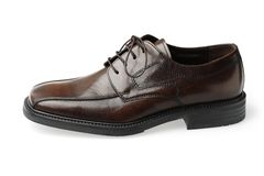 Brown Leather Shoe. Isolated Brown Leather Shoe Royalty Free Stock Photography