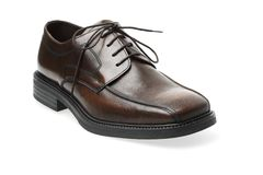 Brown Leather Shoe. Isolated Brown Leather Shoe Stock Images