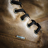 Brown leather shoe Stock Photography