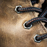 Brown leather shoe Royalty Free Stock Photos
