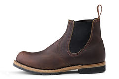 Brown leather shoe for man Royalty Free Stock Photo