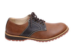 Brown leather shoe Stock Photo