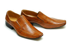 Brown leather shoes Royalty Free Stock Photography