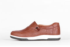 Brown leather shoes Royalty Free Stock Image