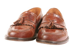Brown Leather shoes Stock Photo