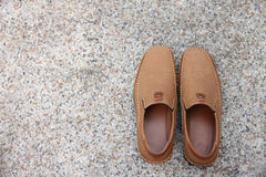 Brown leather shoes. Stock Photography