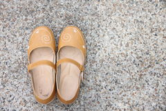 Brown leather shoes. Royalty Free Stock Image