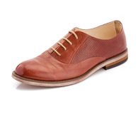 Brown leather shoes isolated on a white Royalty Free Stock Photography