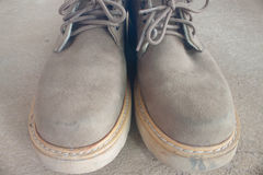 Brown leather shoes Royalty Free Stock Photo