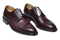 Brown leather shoes Royalty Free Stock Images
