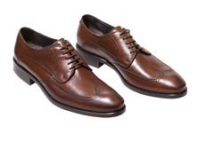Brown leather shoes Stock Photography