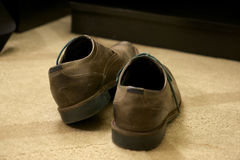 Brown Leather Shoes. Professionally worn Royalty Free Stock Images
