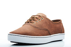 Brown leather sneaker Royalty Free Stock Photography
