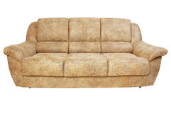Brown leather sofa Royalty Free Stock Image